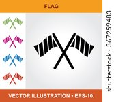 vector icon of flag with title  ...