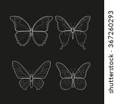 illustration black and white... | Shutterstock .eps vector #367260293