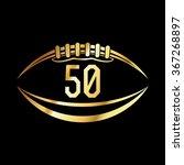 an american football emblem... | Shutterstock . vector #367268897