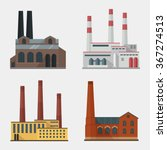 Factory Building Icon Vector...