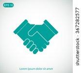 handshake icon | Shutterstock .eps vector #367282577
