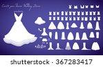 wedding dresses collection...   Shutterstock .eps vector #367283417