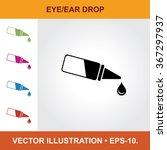vector icon of eye or ear drop... | Shutterstock .eps vector #367297937