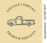 one thin line  flat vintage... | Shutterstock .eps vector #367307357