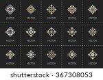geometric logo template set.... | Shutterstock .eps vector #367308053