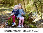 two little sisters picking the... | Shutterstock . vector #367315967