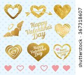 set of golden hearts | Shutterstock .eps vector #367318607