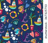 bright vector pattern of sea... | Shutterstock .eps vector #367325753