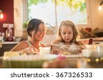 a mother and her four years old ... | Shutterstock . vector #367326533
