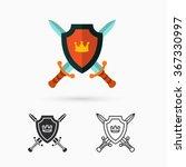 shield and swords | Shutterstock .eps vector #367330997
