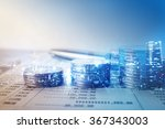 double exposure of city and... | Shutterstock . vector #367343003