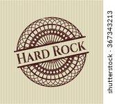 hard rock rubber grunge stamp | Shutterstock .eps vector #367343213