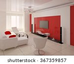 original modern living room... | Shutterstock . vector #367359857