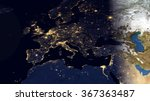 europe night space view   high... | Shutterstock . vector #367363487
