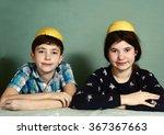 creative kids teenage siblings... | Shutterstock . vector #367367663