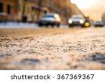 bright winter sun in a big city ...   Shutterstock . vector #367369367