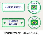 made in brazil grunge rubber... | Shutterstock .eps vector #367378457