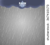 Transparent Rain Image. Vector...