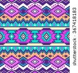 neon multicolor tribal navajo... | Shutterstock .eps vector #367418183