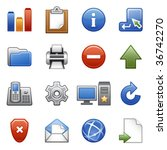 stylized icons set 02 | Shutterstock .eps vector #36742270