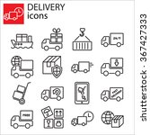 web icons set   delivery ... | Shutterstock .eps vector #367427333
