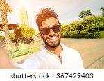 happy young guy take selfie in... | Shutterstock . vector #367429403