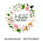 hand sketched i love you to the ... | Shutterstock .eps vector #367431863