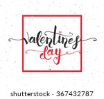 hand sketched valentine's day... | Shutterstock .eps vector #367432787