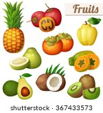 set of cartoon food icons... | Shutterstock .eps vector #367433573