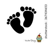 web line icon. footprints...   Shutterstock .eps vector #367434653