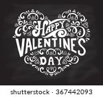 hand drawn valentines day... | Shutterstock .eps vector #367442093