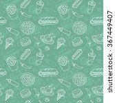 fast food seamless pattern | Shutterstock .eps vector #367449407