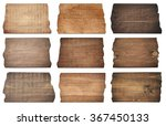 brown wooden boards  signboard  ... | Shutterstock . vector #367450133