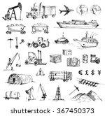 hand drawn logistics  resource... | Shutterstock .eps vector #367450373