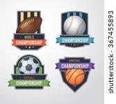 sport logo set vector. ... | Shutterstock .eps vector #367455893
