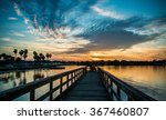 Sunset On The Dock Of The...