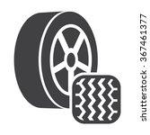 Постер, плакат: Wheel icon Wheel icon
