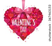 valentine s heart with bow and... | Shutterstock .eps vector #367463153