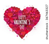 valentine s heart greeting card.... | Shutterstock .eps vector #367463327