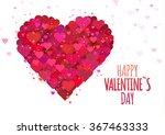 valentine s heart card. vector... | Shutterstock .eps vector #367463333