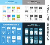 mobile wireframe app ui kit 36. ...