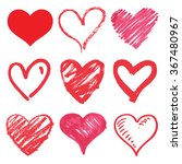 heart series vector set | Shutterstock .eps vector #367480967