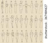 vector seamless pattern various ... | Shutterstock .eps vector #367484627