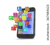icon app fall in smart phone | Shutterstock . vector #367485623