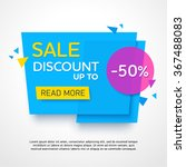 ecommerce bright vector banner. ... | Shutterstock .eps vector #367488083