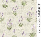 the lavender seamless frame... | Shutterstock .eps vector #367493417