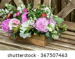 Bouquet Of Flowers In Old...