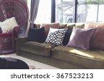 comfortable pillow in living... | Shutterstock . vector #367523213