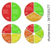 set of round infographic... | Shutterstock .eps vector #367535177