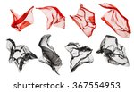 fabric cloth flying  flowing... | Shutterstock . vector #367554953